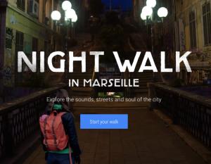 C'est à Marseille que le géant américain a poser ses caméras, le temps d'une balade autour du Cours Julien (capture d'écran Nightwalk with Google)