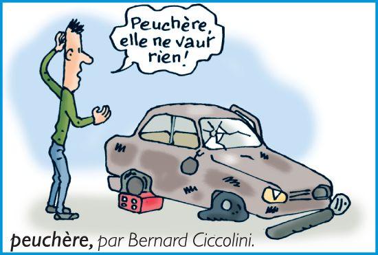Peuchère, par Bernard Ciccolini. Dessin extrait du Petit Larousse 2010
