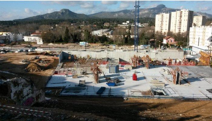 Le projet Rousselot, à Aubagne : construction de 453 logements, dont 80 % à vocation sociale, ainsi que de 300 000 m2 de surface commerciale (photo : epfpaca).