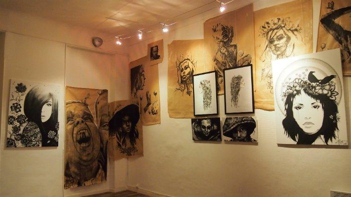 Lili B expose, aux côtés de Dire 132, à l'Atelier Juxtapoz (photo : Juxtapoz)