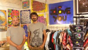 Julien et Laurent, fondateurs en mai 2012 du concept store UnderArtGround (photo : E.D).