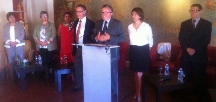 Jean-Noël Guérini présente sa liste autonome du PS pour les sénatoriales