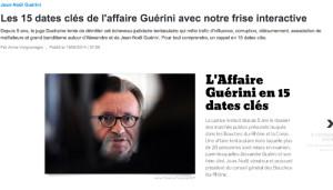 La frise chronologique sur les affaires Guérini réalisée par la rédaction de France 3 Provence Alpes. (Capture d'écran france3-regions.francetvinfo.fr)