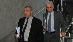 Roland Giberti (à gauche) maire de Gémenos et Jean-Pierre Giorgi maire de Carnoux-en-Provence.
