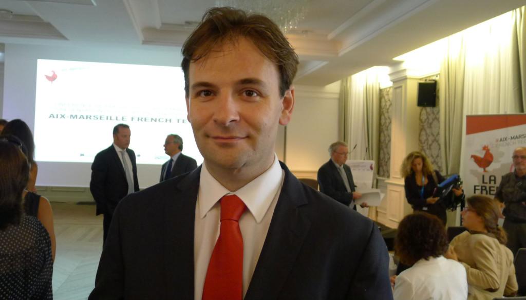 François-Joseph Viallon est le président de la société StarDust basée au pôle média de la Belle de Mai et spécialisée dans les tests d'applications mobiles, tablettes et web (Photo J-F. E.)