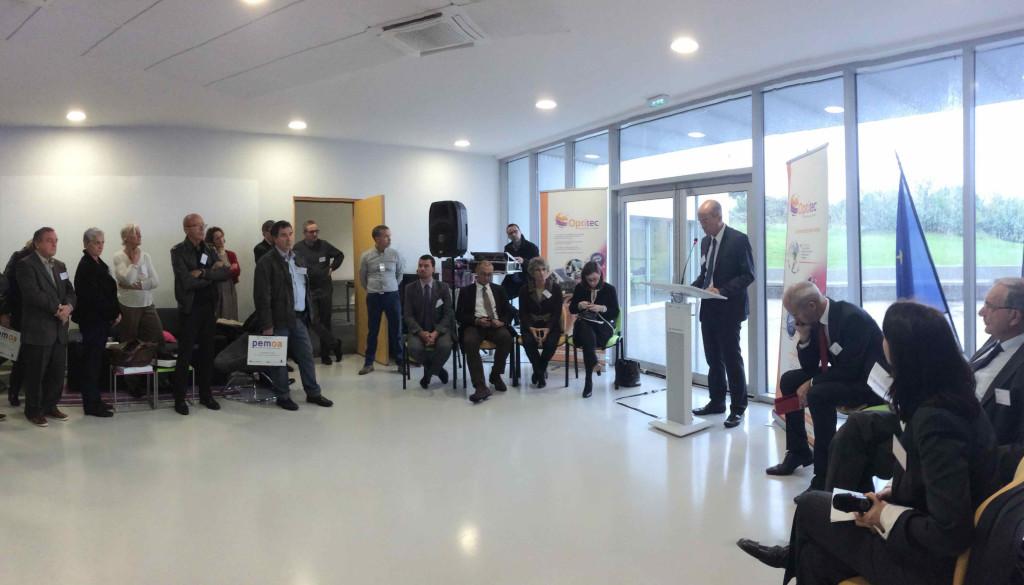 Lors de l'inauguration de Pemoa mercredi 12 novembre à Technoptic de Marseille Innovation (Photo J-F.E)