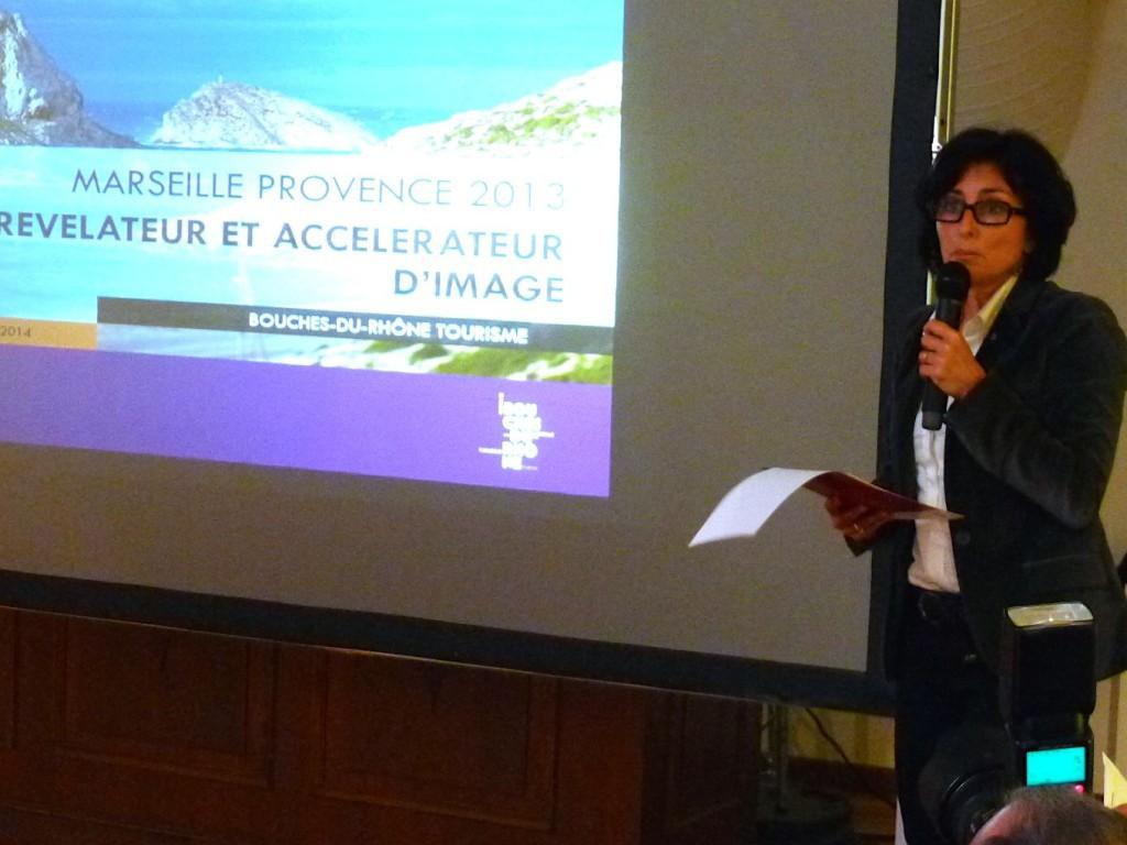 Isabelle Brémond, la directrice générale de Bouches-du-Rhône-Tourisme (Photo J-F. E.)