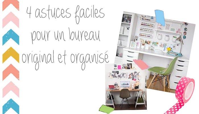 diy 4 astuces pour organiser son bureau au travail gomet 39. Black Bedroom Furniture Sets. Home Design Ideas