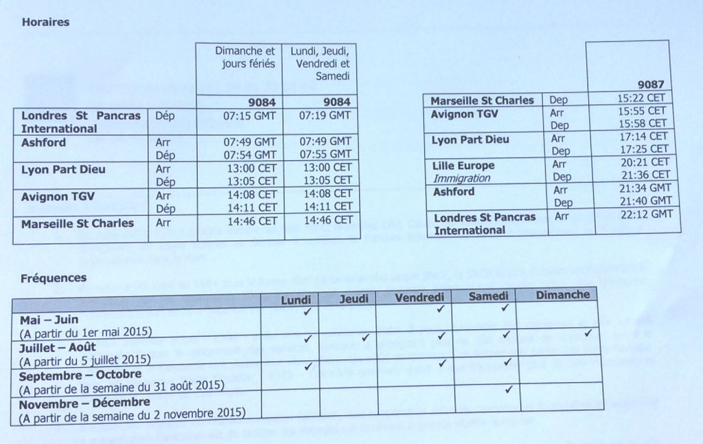 horaires 10