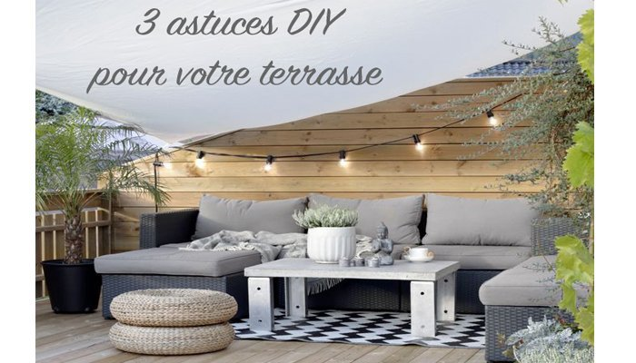 diy 3 astuces pour am nager son ext rieur en petit coin. Black Bedroom Furniture Sets. Home Design Ideas