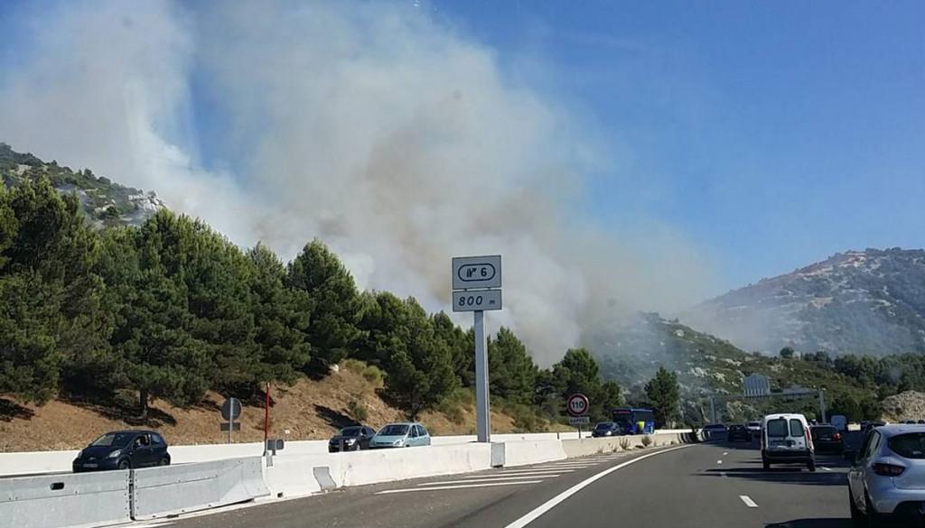autoroute incendie