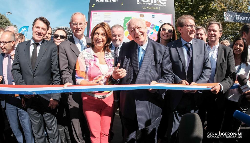 Inauguration de la Foire de Marseille en présence de Jean-Claude Gaudin et Martine Vassal. Crédit photo Gérard Géronimi / Safim.
