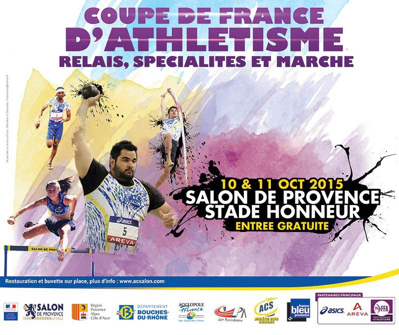 [Sport] Les 10 et 11 octobre, Salon-de-Provence accueille la coupe de France d'athlétisme