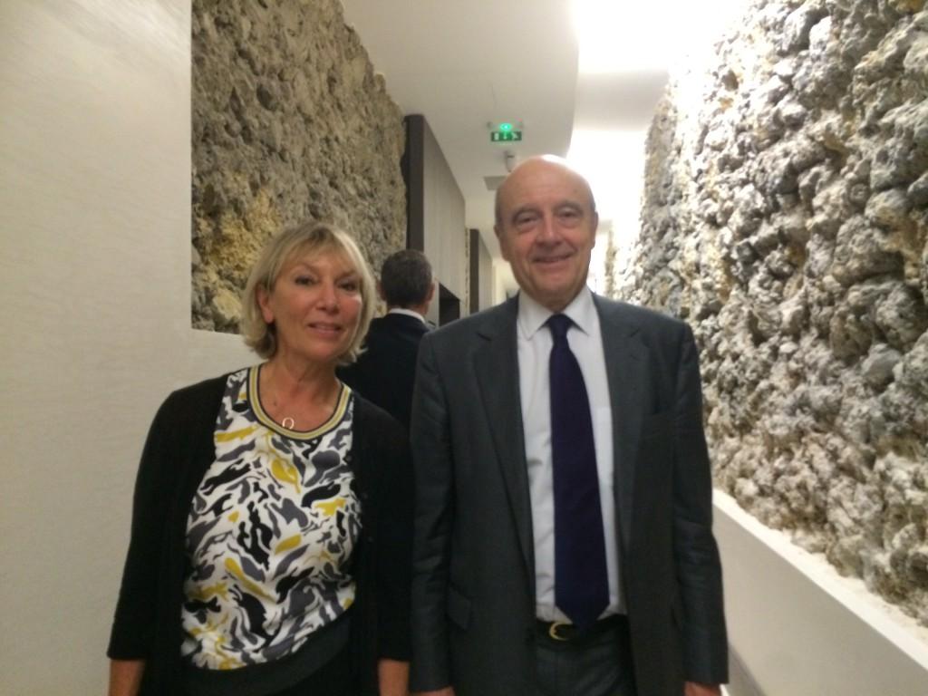 Alain Juppé et Danièle Prieur