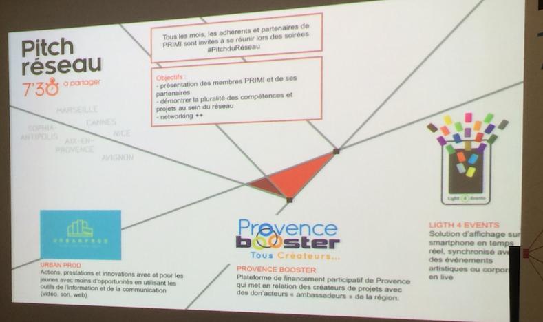 « Pitch réseau » : les trois adhérents pitchent leur projet