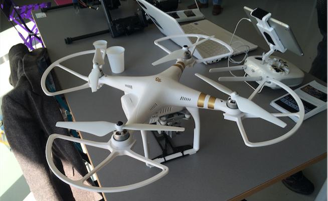 Un drone présenté lors de la journée