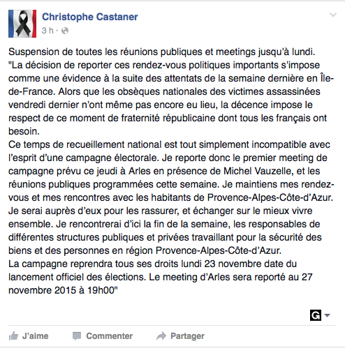 La publication de Christophe Castaner