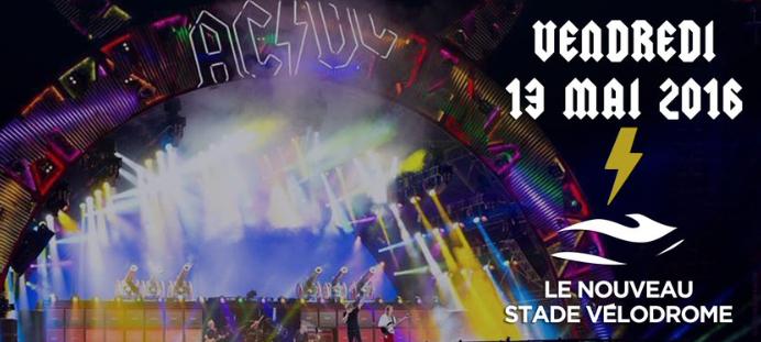 [Agenda] AC/DC en France en 2016... uniquement au stade Vélodrome de Marseille !