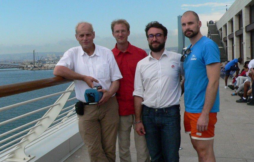 Les membres de l'association France Nature Environnement et de l'ONG allemande Nabu