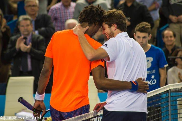 Gael Monfils et Gilles Simon lors de la finale de l'Open 13