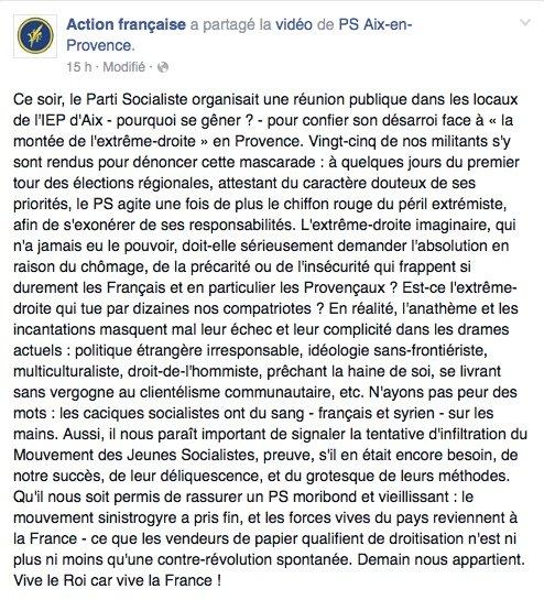 Publication de l'Action Française