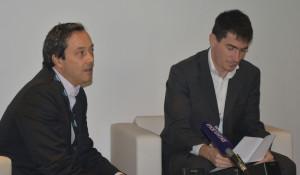 Le président d'Arema et le directeur général du Nouveau Stade Vélodrome présentent leurs projets à la presse