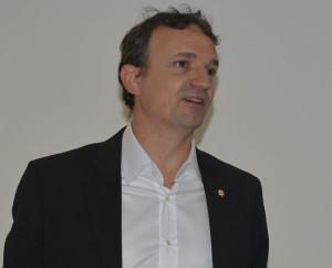 François Michel-Lambert, député des Bouches-du-Rhône, lors de la présentation des Indus3Days
