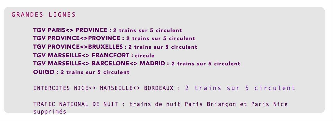 horaires TGV