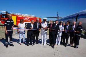 La nouvelle aire d'entrainement des marins-pompiers de l'Aéroport Marseille Provence a été inauguré le 22 juin à proximité des hangars Boussiron