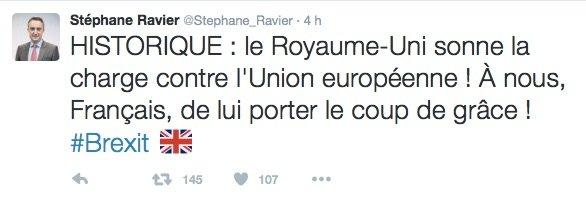 Tweet Stéphane Ravier