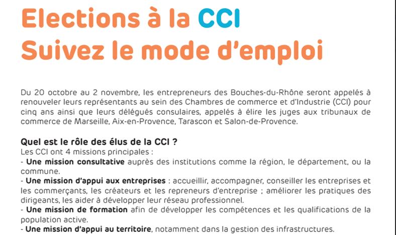 Entreprises Elections à La CCI La CGPME Parraine La Liste Energie - Chambre de commerce salon de provence