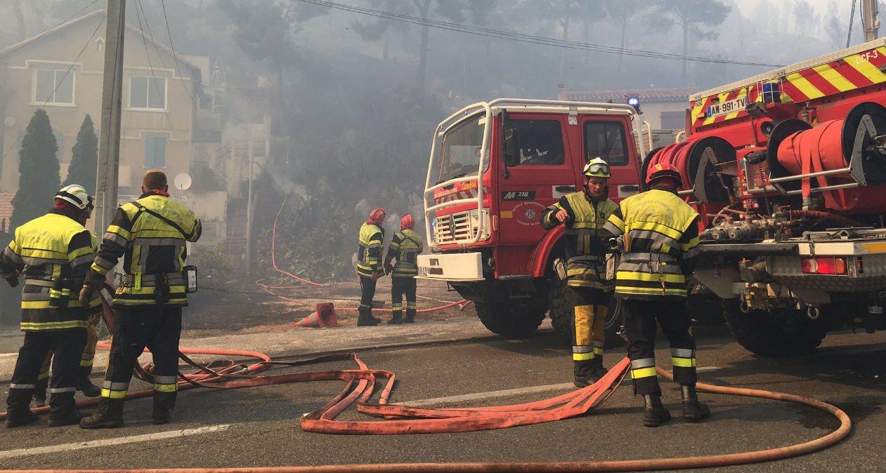pompiers incendie ensues