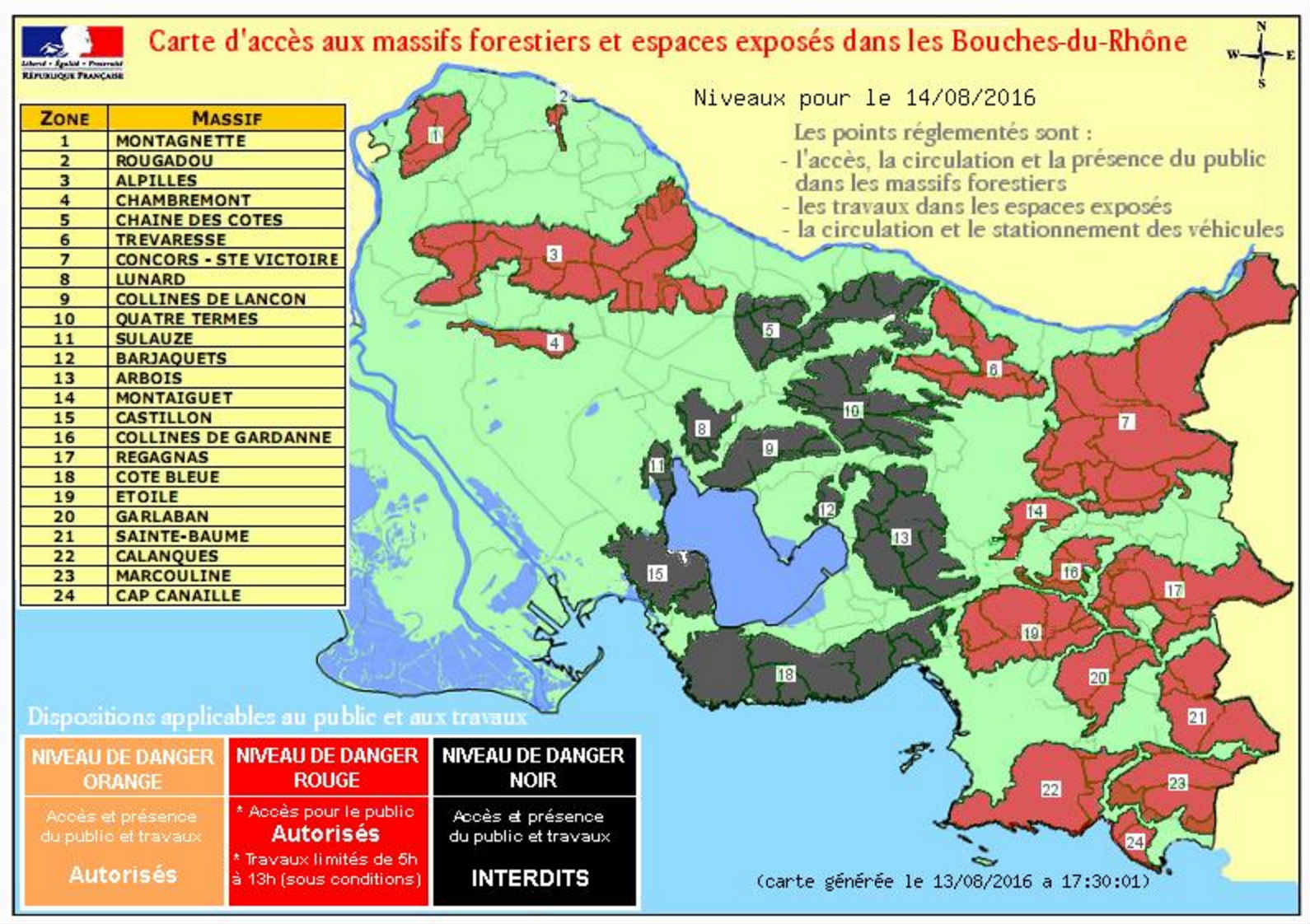 carte massif forestier