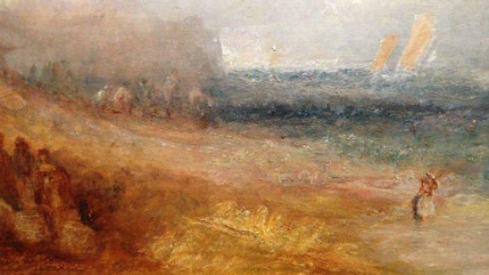 Sur la plage de Margate (vers 1840)