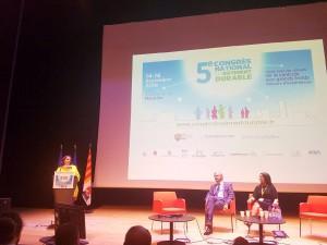 Emmanuelle Cosse en visite au Congrès national du bâtiment durable crédit @emmacosse
