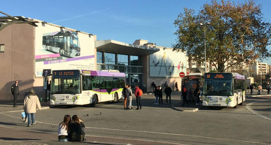 La gare de Vitrolles où circule le Zenibus (Photo Gomet')