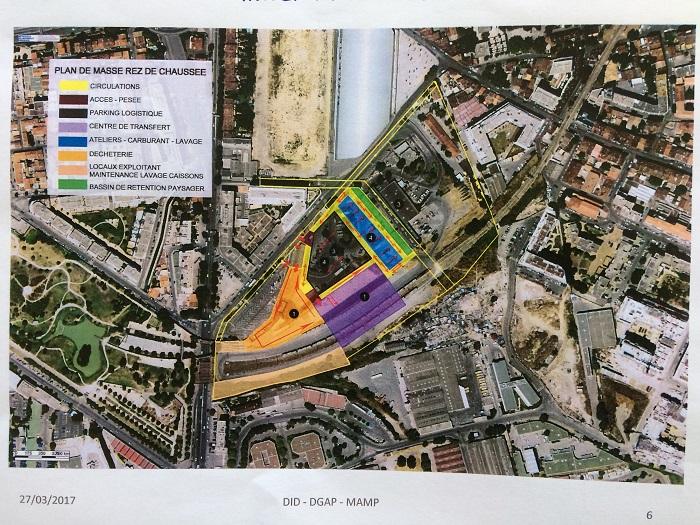 Le plan de réaménagement du centre de transfert des déchets de la Capelette