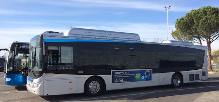 Bus Yutong expérimenté par la RTM