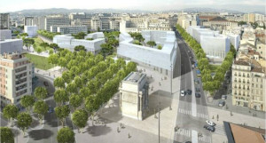 Le Sommet Immobilier Aménagement du Territoire & Infrastructures (SIATI) a décerné à l'Etablissement Public d'Aménagement (EPA) Euroméditerranée le Trophée d'Or de la meilleure transformation de zone urbaine pour son projet « La Porte d'Aix demain : le défi jeune.