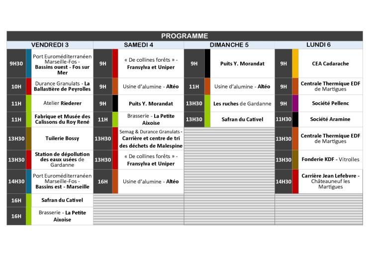 Le programme de l'édition 2017