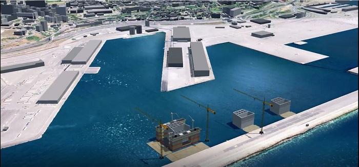 Le port de Marseille accueille l'usine de Bouygues pour l'extension en mer de Monaco