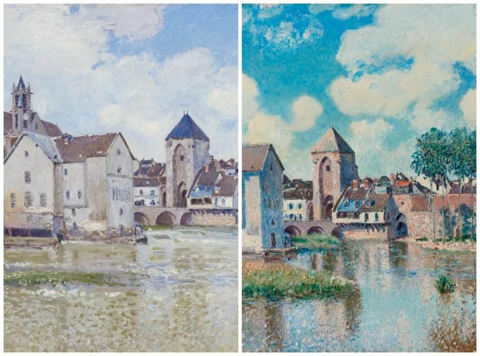 Quelques variations sur Moret et son pont (détails)