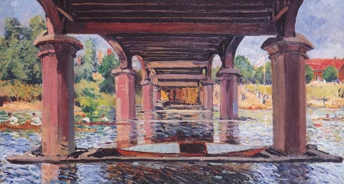 Sous le pont de Hampton Court, Alfred Sisley, 1874