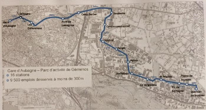 Le tracé du chronobus