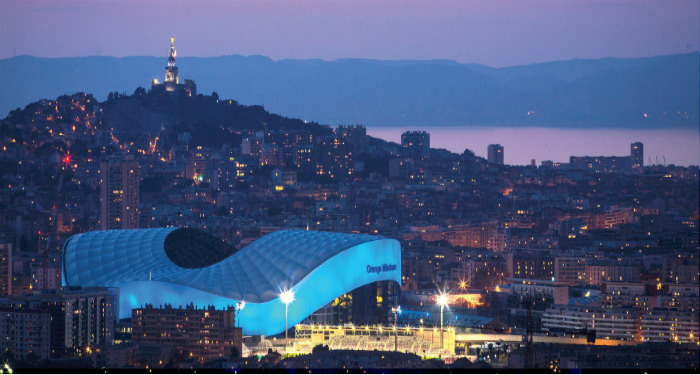 Stade Orange Vélodrome de nuit