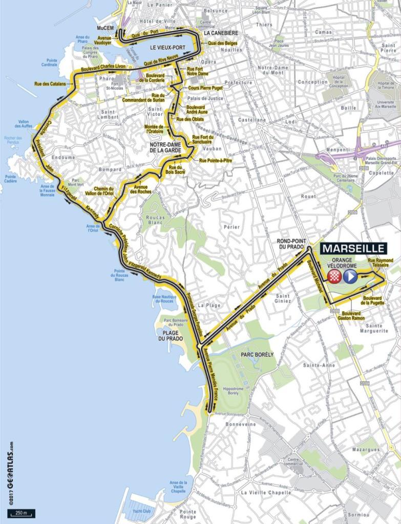 Parcours Tour de France Marseille