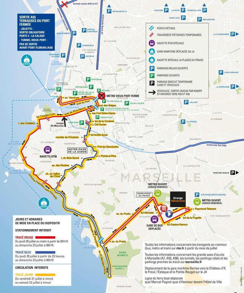 Tour de France dispositif circulation