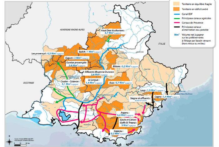 Carte des zones en tension