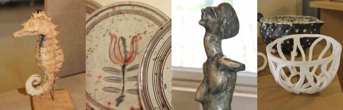 Travaux des élèves de l'école de céramique de Provence 2017 (1,3,4- et de l'atelier Barbotine (2) (©DR)