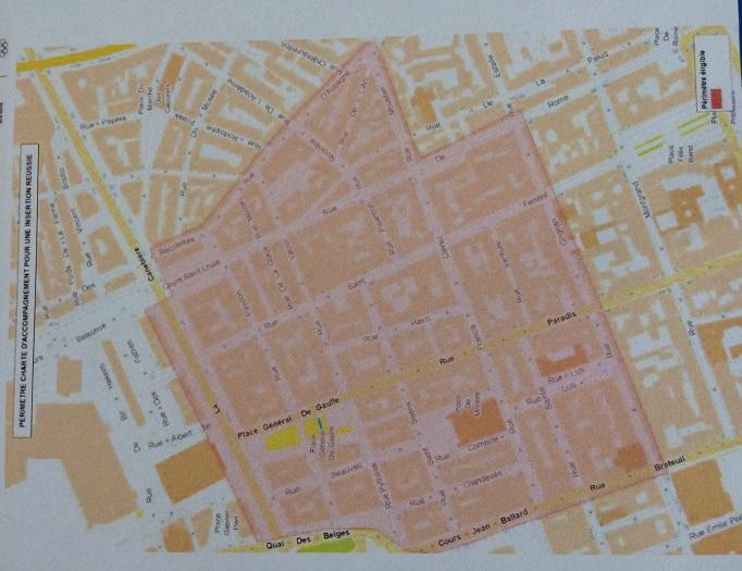 Le périmètre s'étend entre La Canebière, le cours Jean Ballard, le rue Grignan et la rue d'Aubagne.